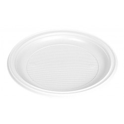 Plato postre blanco 170 mm pack 100 ud