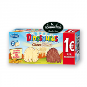 Galleta dinosaurus chocolate blanco 85 grs.  C/12