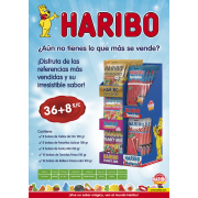 Lote Haribo 100 grs. 36+8 expositor