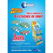 Lote Chicles Orbit 4+2 estuches