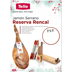 Lote Jamón Reserva Rencal nº 2 Tello Navidad 2020